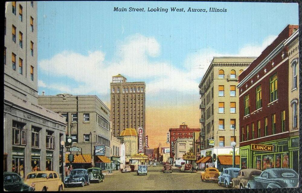 aurora illinois 1940 39 s main street downtown lunch diner more ebay. Black Bedroom Furniture Sets. Home Design Ideas