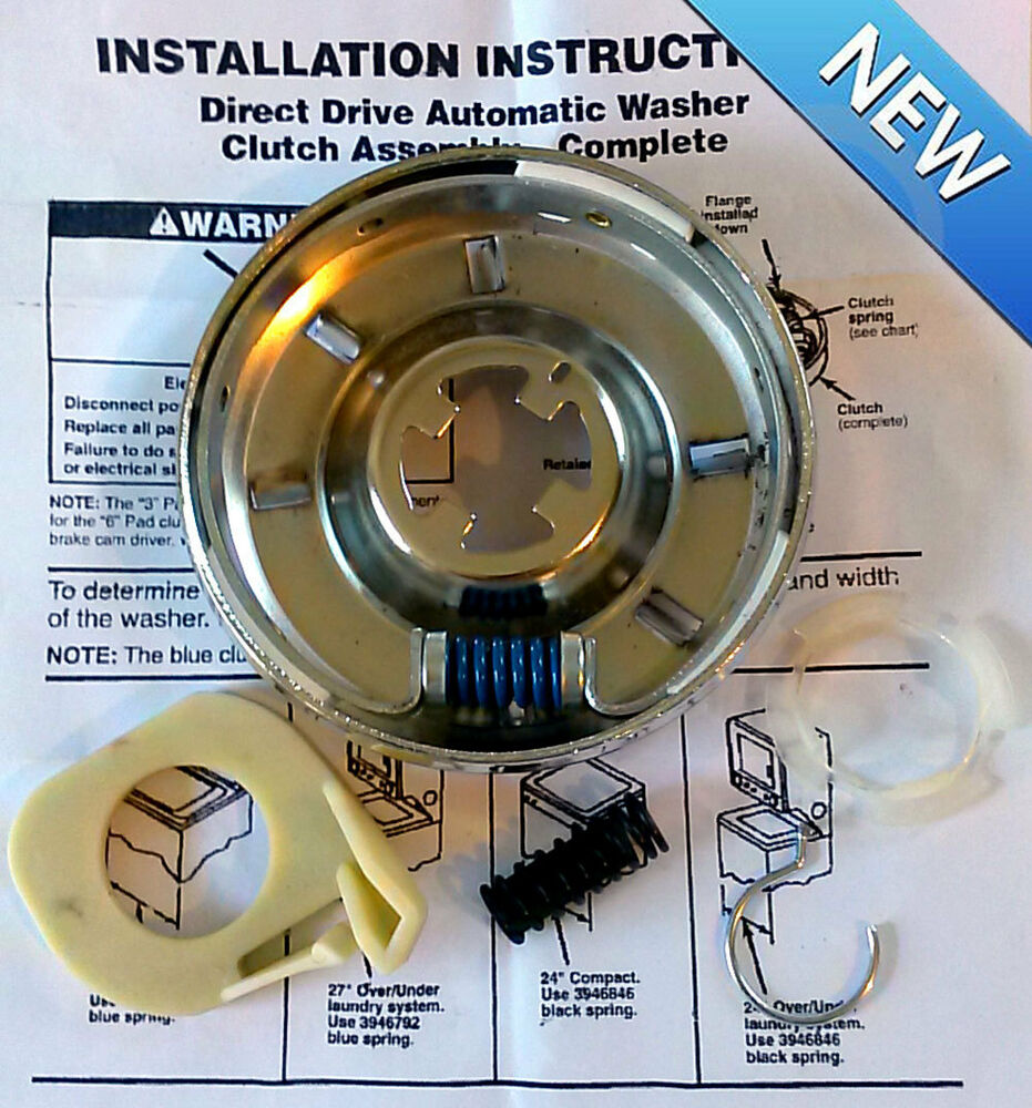 New washer direct drive clutch kit for whirlpool kenmore roper sears washer ebay - Whirlpool washer clutch replacement ...
