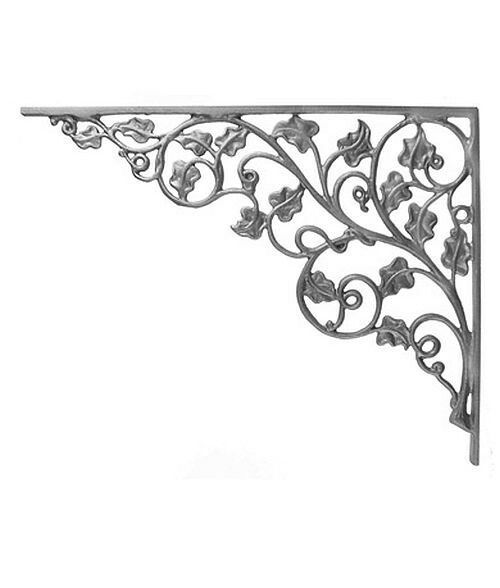 iron corner decor bookend fence  porch bracket  852