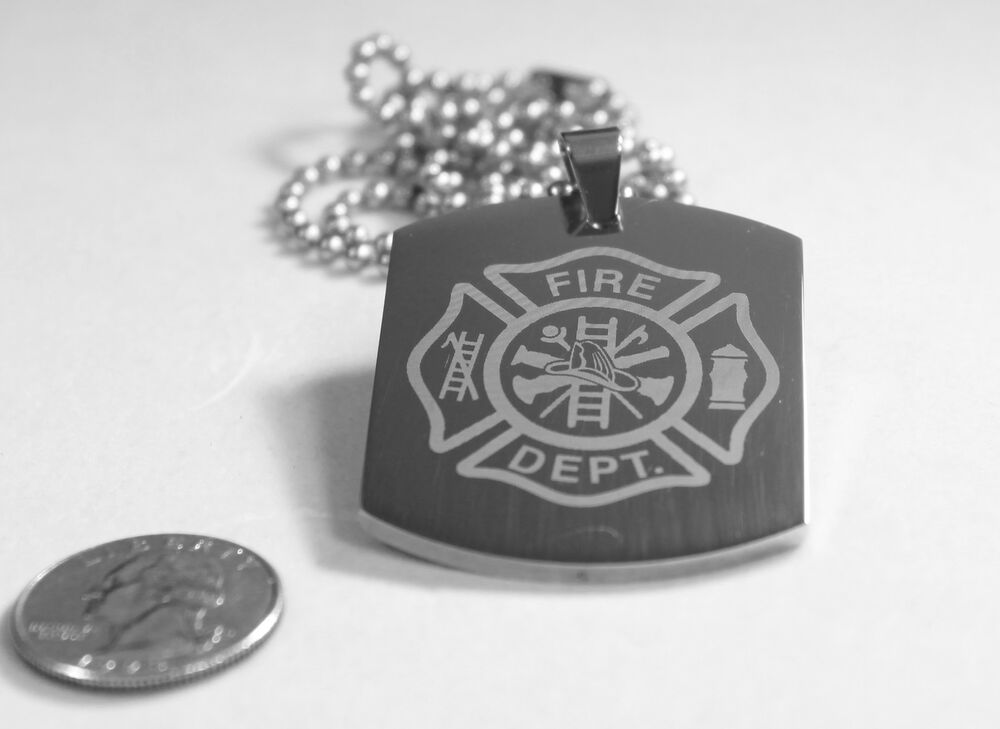 Fire Fighter Maltese Cross X Large Thick Stainless Steel