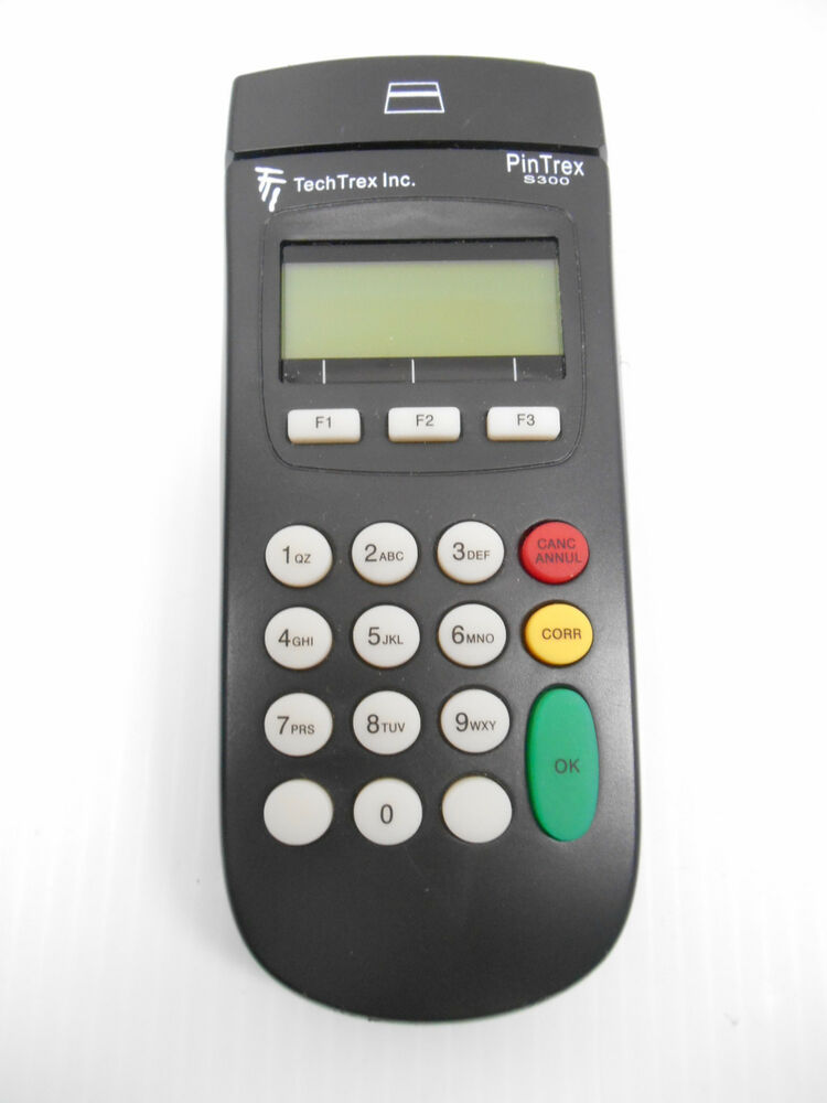 TECHTREX PIN TREX S300 DEBIT CREDIT CARD READER KEYPAD POS