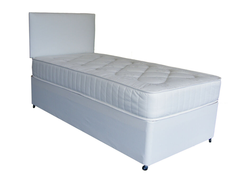 3ft by 5ft9 short bed single deep quilt 3ft divan bed for New single divan beds
