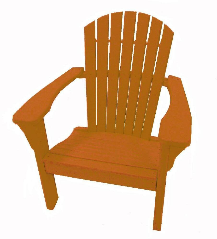 ... Choice Furniture Standard Adirondack Chair Tangerine OFC T | eBay