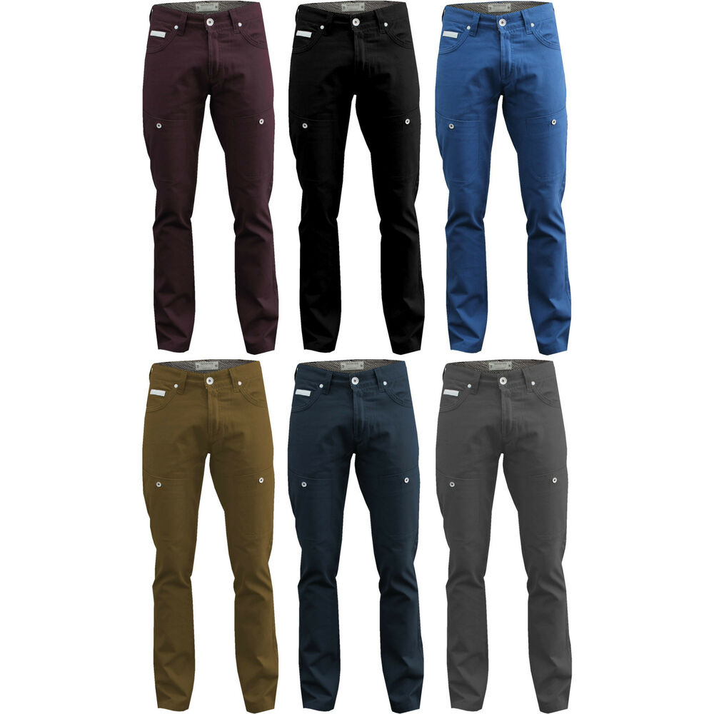 new mens chinos waist 28 30 32 34 36 38 40 trousers navy blue plum jeans tf13 ebay. Black Bedroom Furniture Sets. Home Design Ideas