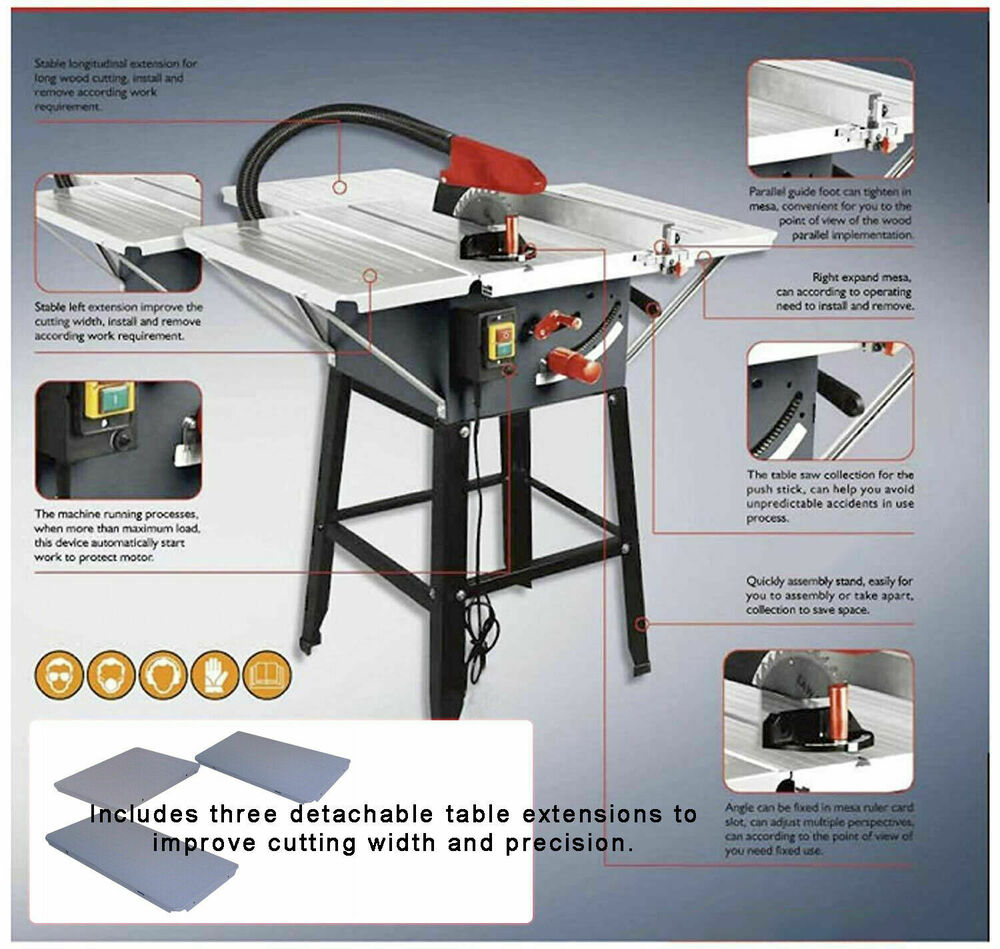 Brand New Table Saw With Powerful 1800w Motor 10 Blade