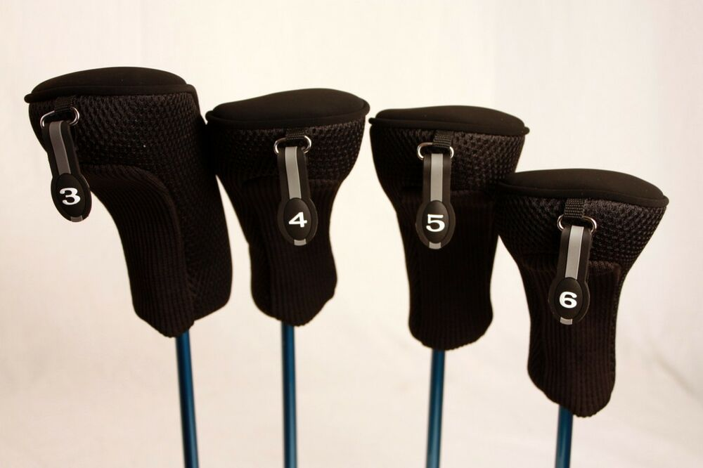 New Thick Lady 3 4 5 6 Set Womens Head Covers Hybrid Golf