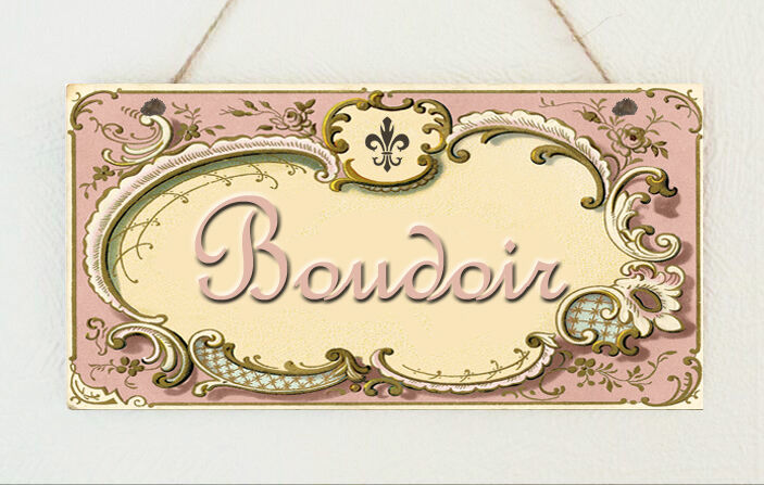 Beautiful Shabby Plaque Vintage Room Sign French Boudoir