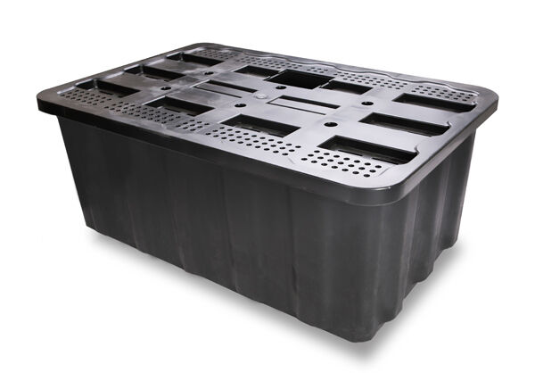 200l Heavy Duty Plastic Water Feature Fountain Reservoir Sump Cascade Container Ebay