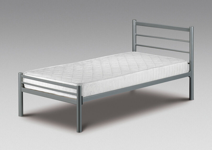 Details About Small Single Bed Metal Frame   NEW 2ft6 Alpen With Or Without  Mattress