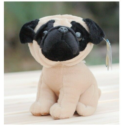 Small Toy Pugs : Very cute plush toy animal pug small dog stuffed kids