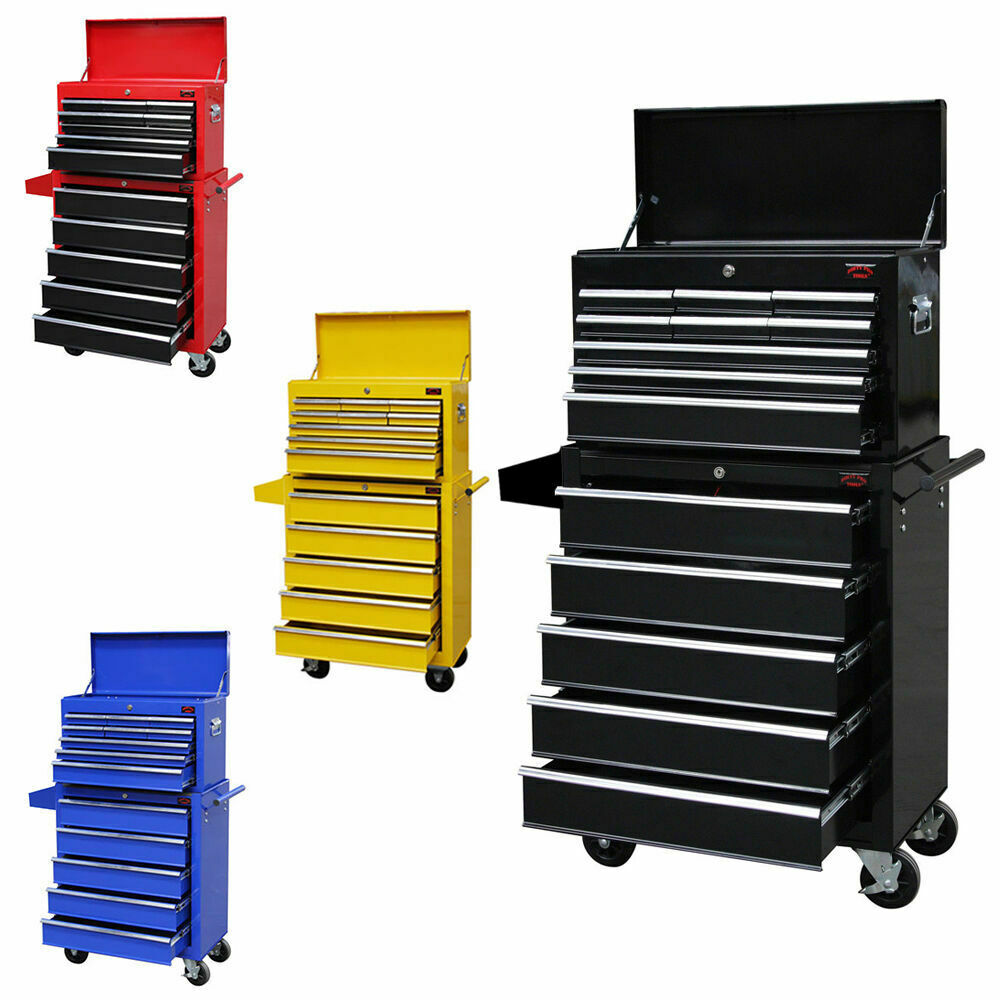 x large tool chest top cabinet top box and rollcab box us ball bearing slides ebay. Black Bedroom Furniture Sets. Home Design Ideas