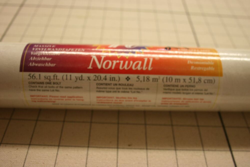 Norwall vinyl wallpaper rolls pattern kt15515 ebay for Wallpaper rolls clearance