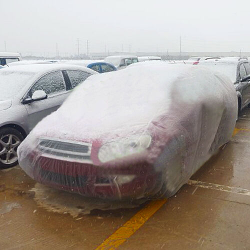 Clear Plastic Temporary Universal Disposable Car Cover