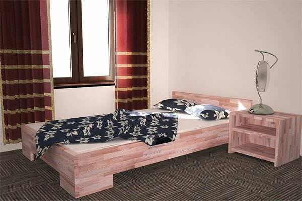 echtholz bett buche massiv 120x200 vollholz g stebett neu seniorenbett ebay. Black Bedroom Furniture Sets. Home Design Ideas
