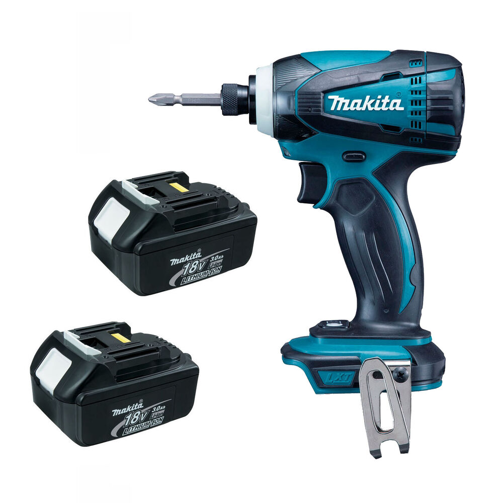 makita 18v lxt btd146 btd146z impact driver and 2 x bl1830 batteries dtd152z ebay. Black Bedroom Furniture Sets. Home Design Ideas