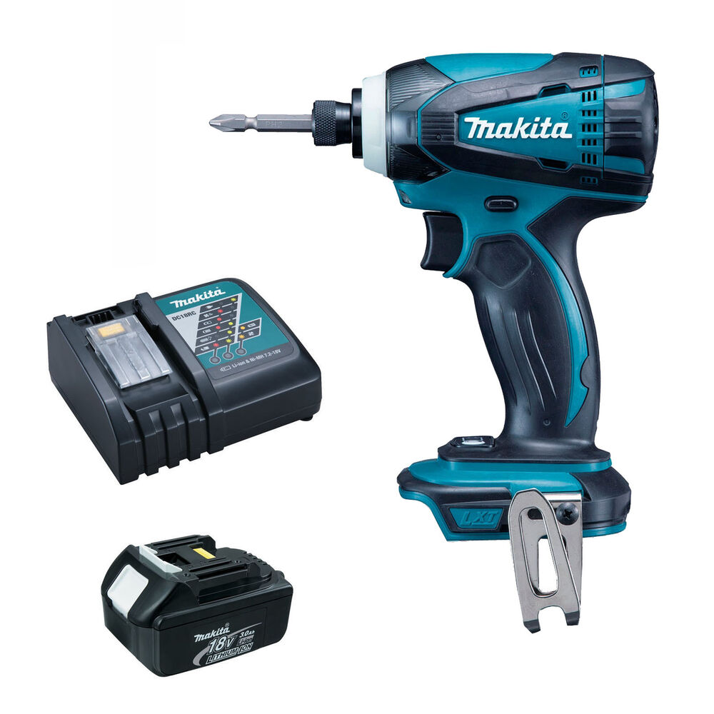 Makita 18v lxt btd146 btd146z impact driver bl1830 battery and dc18rc dtd152 5060344410380 ebay - Batterie makita 18v ...