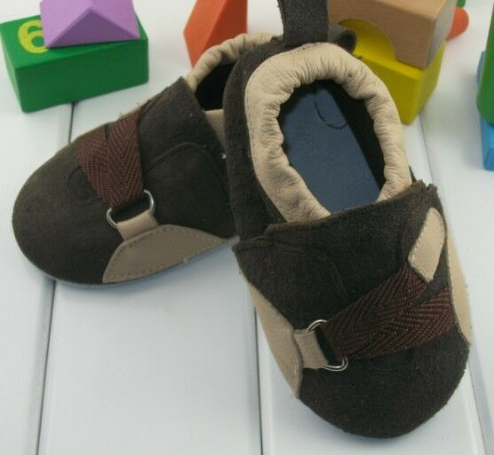 Baby Toddler Boys Soft suede sports trainers Brown shoes