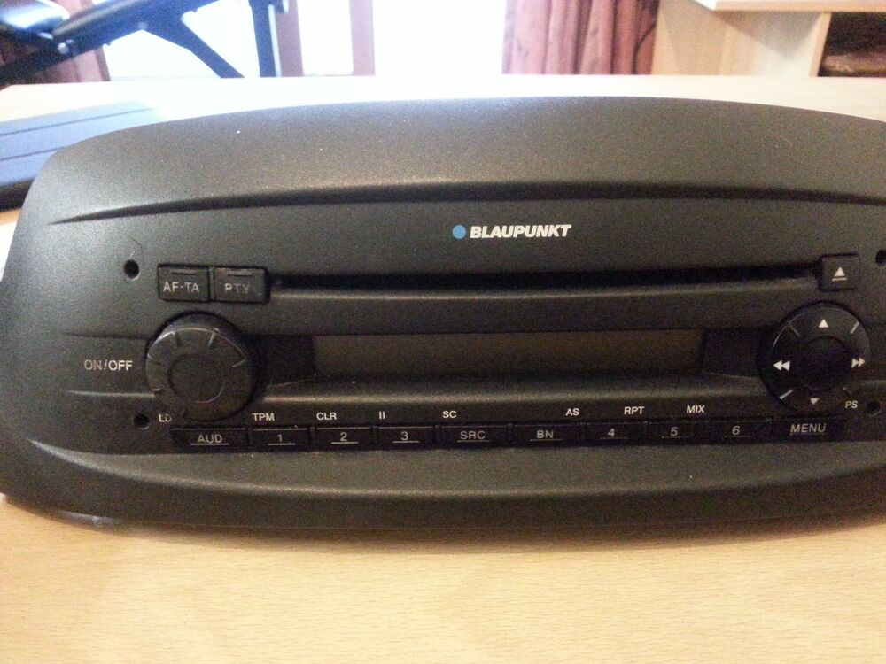 blaupunkt fiat punto 2005 cd player and radio car stereo. Black Bedroom Furniture Sets. Home Design Ideas