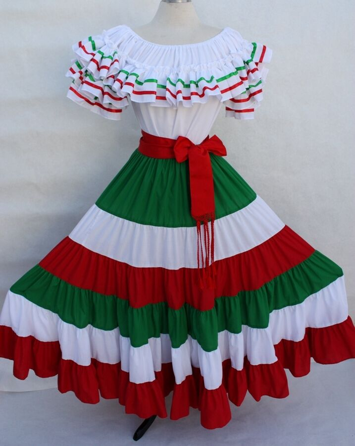 Mexican Fiesta 5 De Mayo Wedding Dress Off Shoulder W