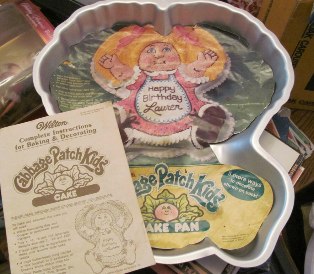 Vintage Wilton Cabbage Patch Doll Cake Pan With