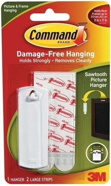 3m Command Sawtooth Hook Poster Hanging Strips 17040