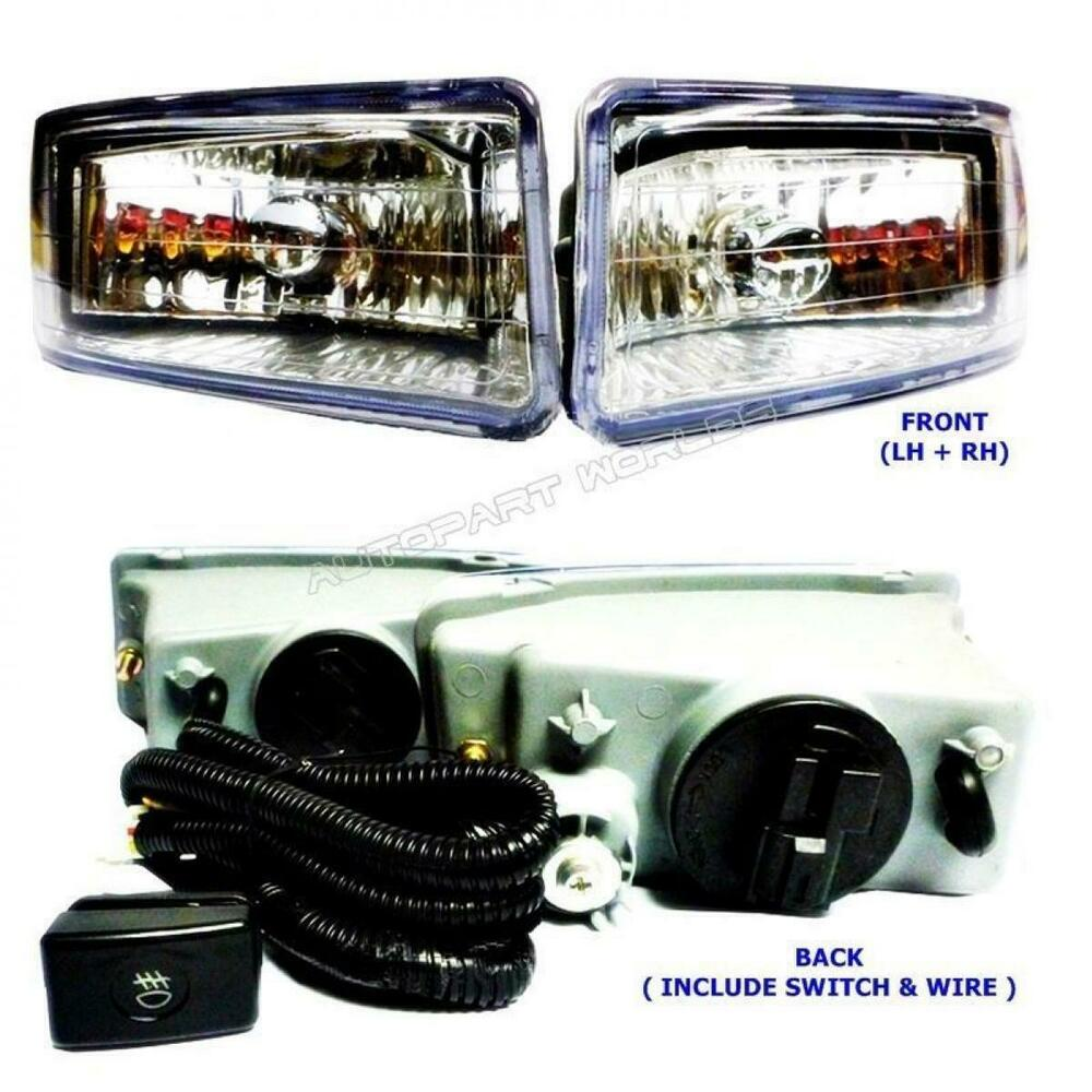 Set Black Fog Lamp Spot Light Fit Chevrolet Colorado: FIT Fog Lamp Spot Light Holden Rodeo Isuzu Dmax Ra 2003