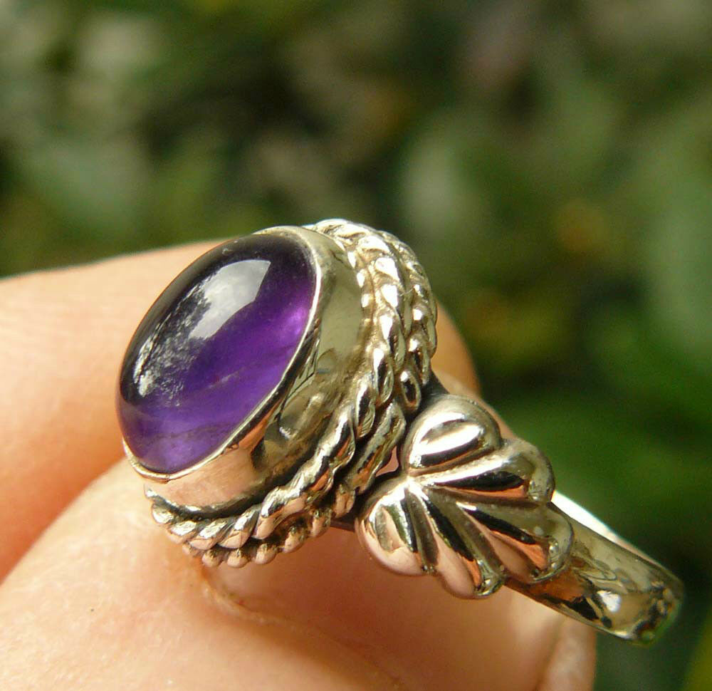 amethyst sterling silver ring child sizes varied designs