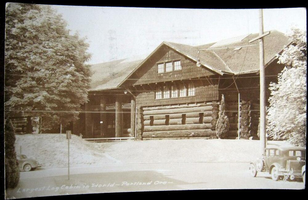 Portland or 1940 39 s largest log cabin in the world old for Cabins near portland oregon