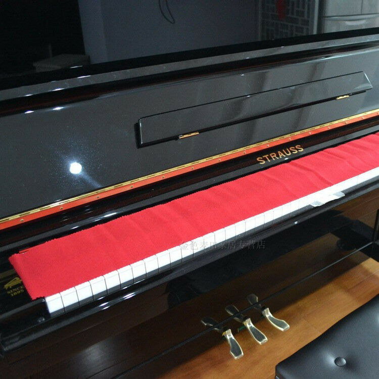 Piano key cover red felt keyboard cover ebay for Yamaha upright piano cover