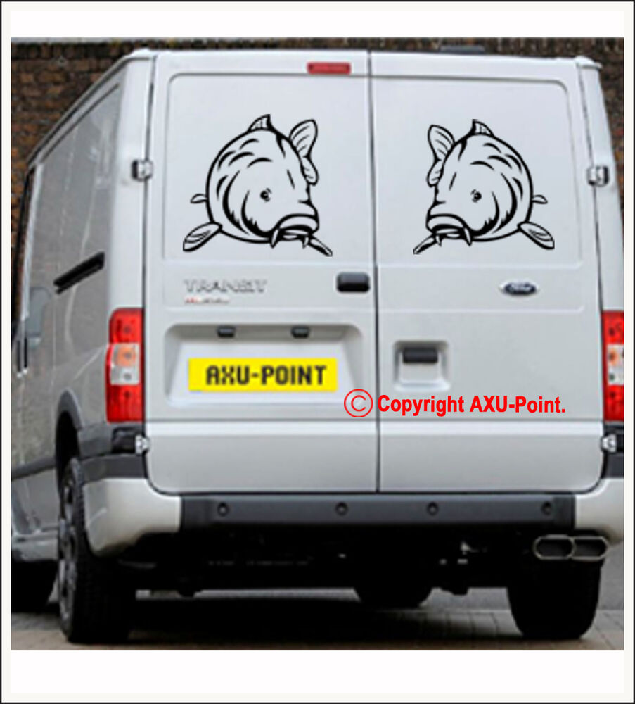 big carp hunter carp crew wall van car sticker decal 2 stickers face to face ebay. Black Bedroom Furniture Sets. Home Design Ideas