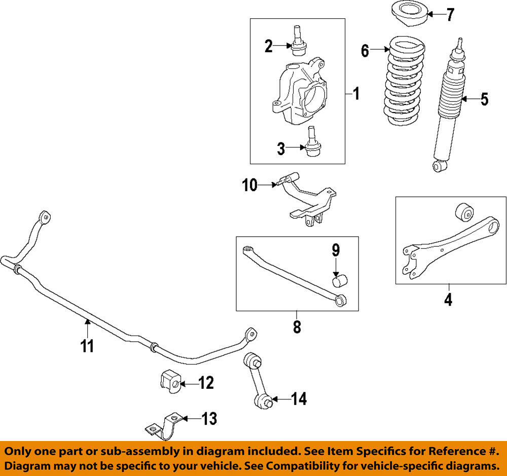 ford oem 08 15 f 350 super duty stabilizer sway bar front. Black Bedroom Furniture Sets. Home Design Ideas