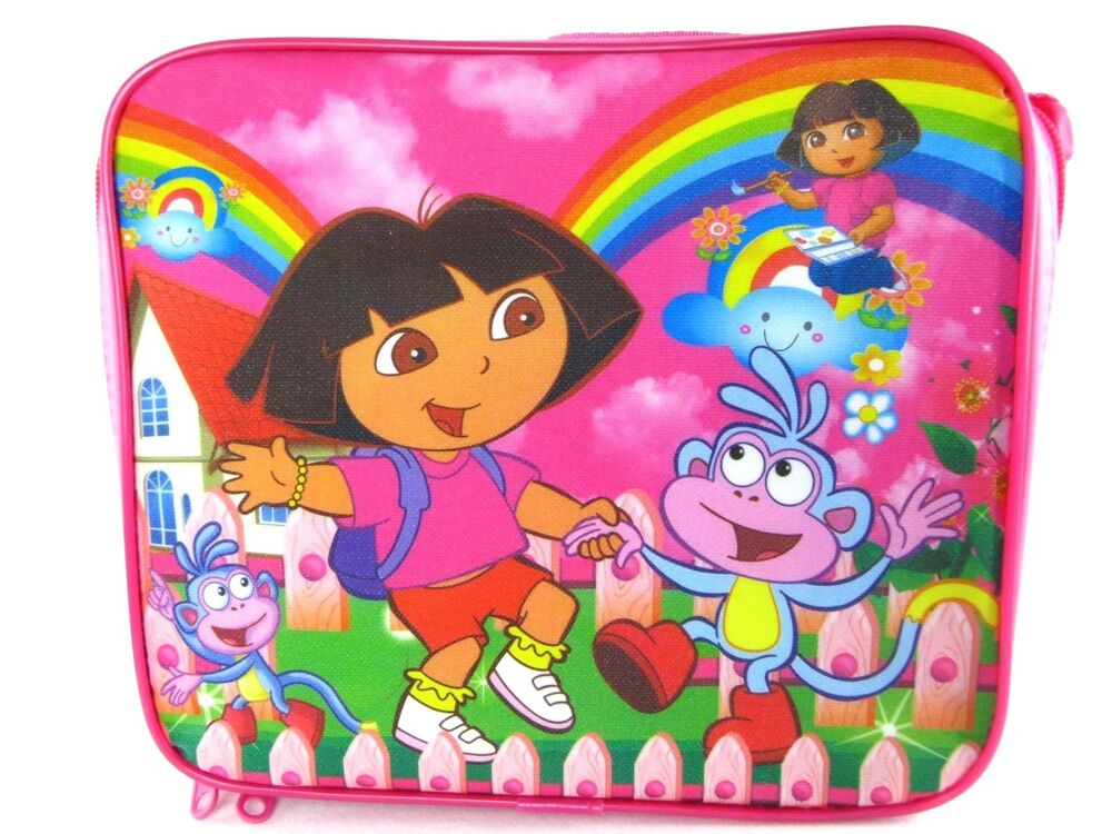 Rare New Dora The Explorer Lunch Bag Lunch Box Amp Water