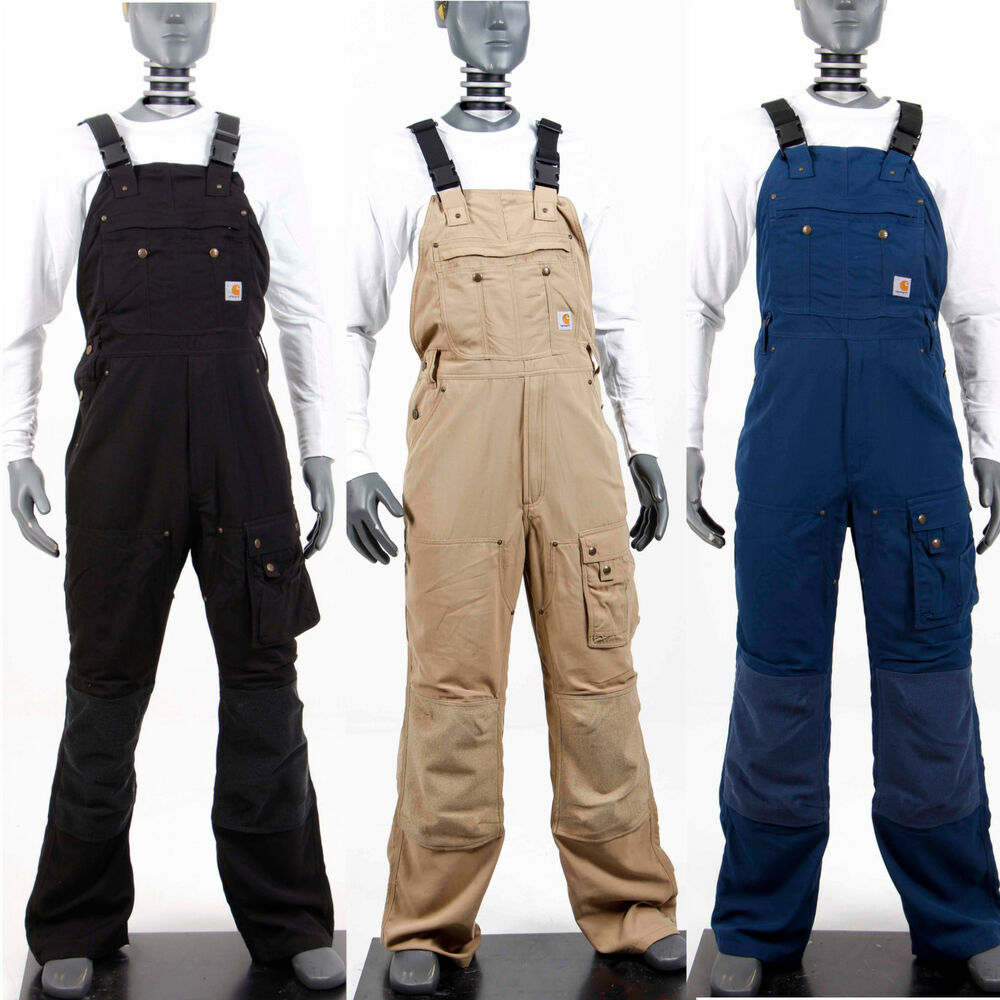 carhartt herren latzhose arbeitshose overall hose schwarz blau beige ero48 ebay. Black Bedroom Furniture Sets. Home Design Ideas