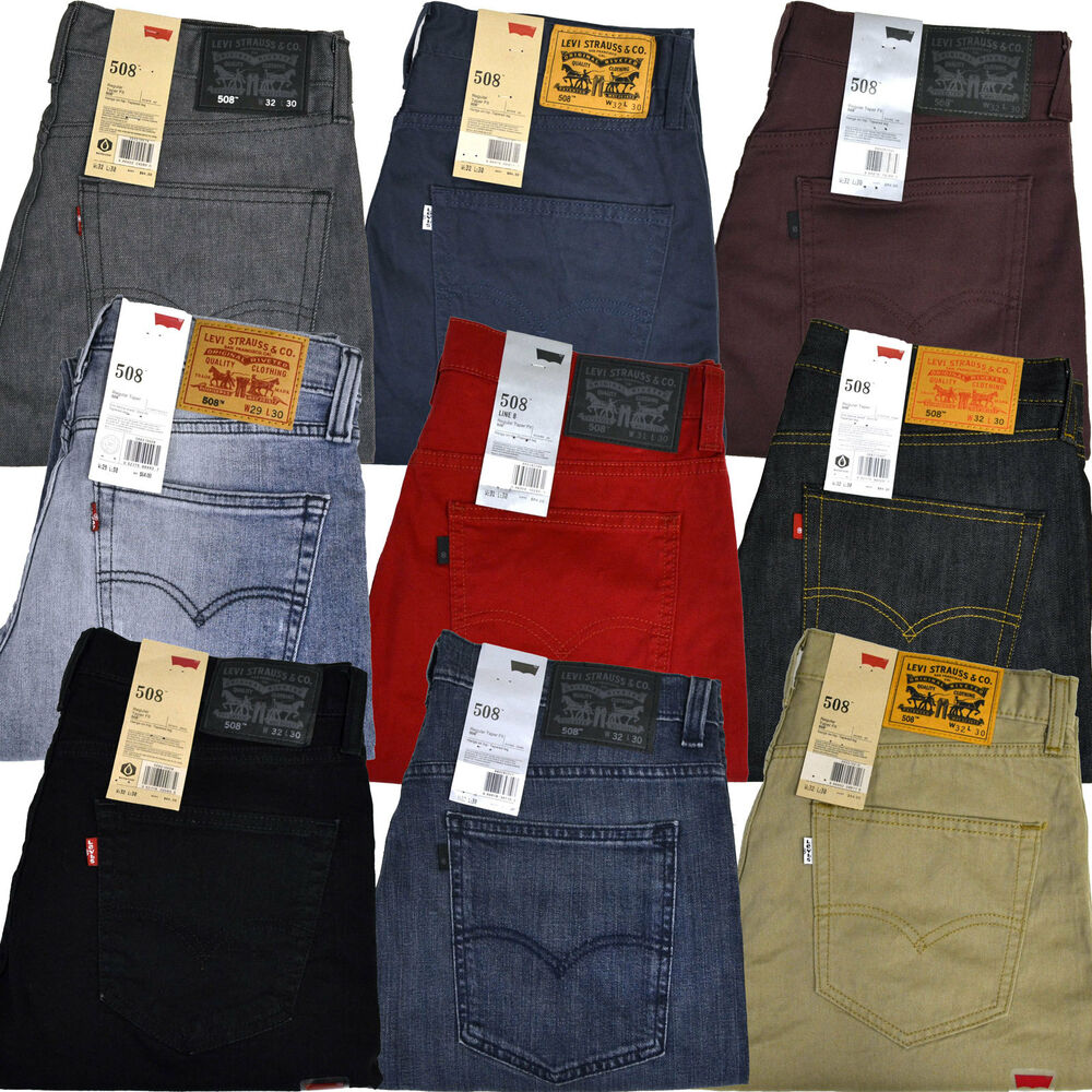 Levis 508 jeans regular taper fit colored levi s jean 29 30 31 32 33