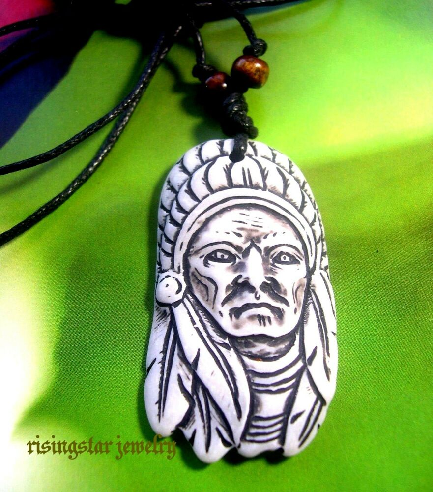Men Embossed Native American Chief with Eagle Feather Headdress ...