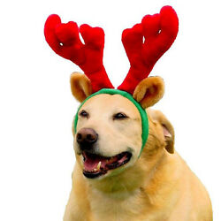 Kyjen Dog Antlers Holiday Christmas  Red Green  Pet Xmas Reindeer Outward Hound
