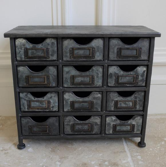 Vintage Industrial Metal Cabinet With 12 Drawers Retro Style Storage Furniture Ebay