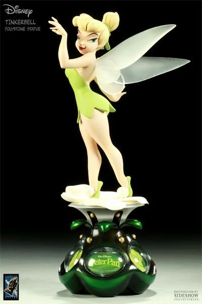 Electric tiki sideshow disney tinker bell animated statue maquette peter pan ebay - Tinkerbell statues ...