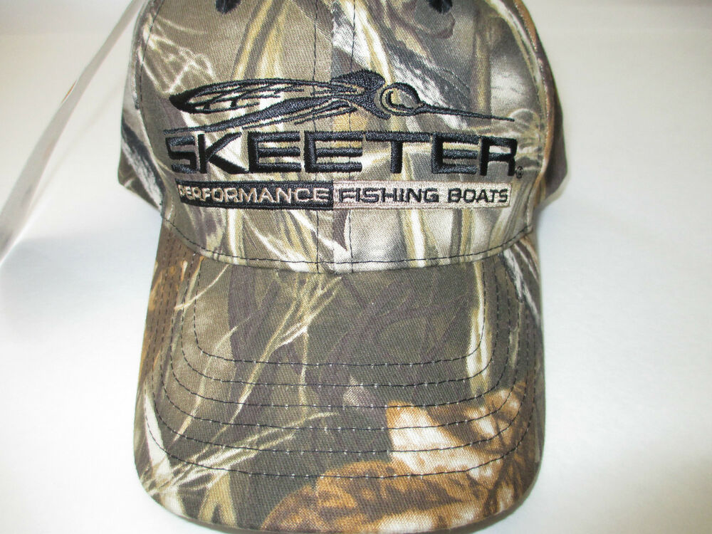 New authentic skeeter realtree max 4 camo hat ebay for Fishing apparel hats