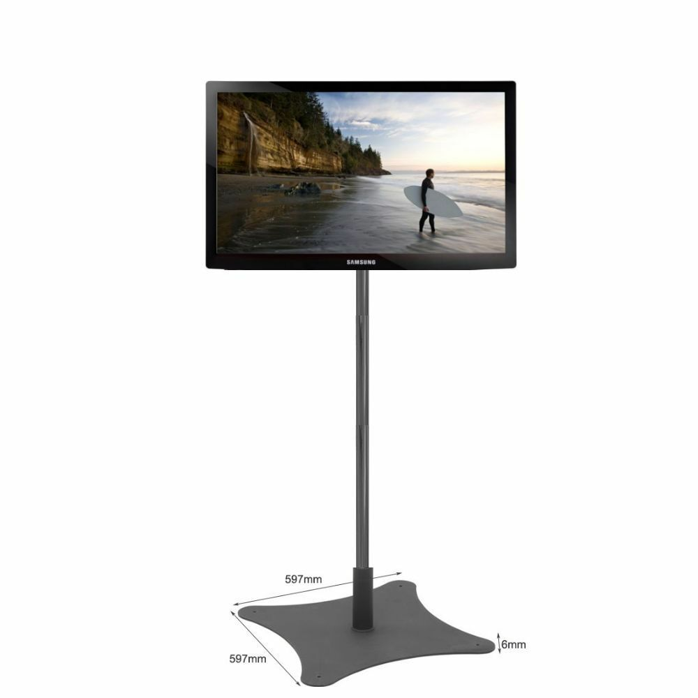 Exhibition Stand Tv : Tall exhibition tv stand on a chrome pole fits