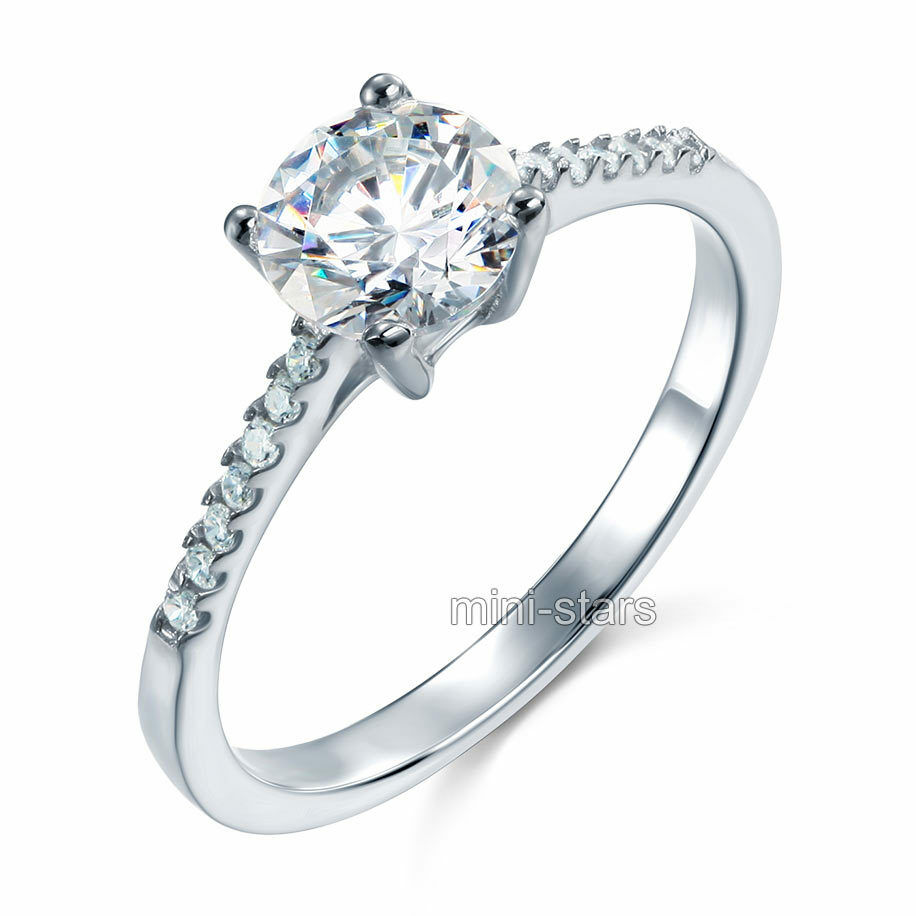 Sterling 925 silver 125 carat lab created diamond for Lab created diamond wedding rings
