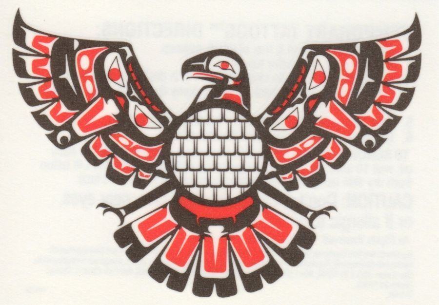 Aztec Phoenix Bird Natavie American Indian Temporary