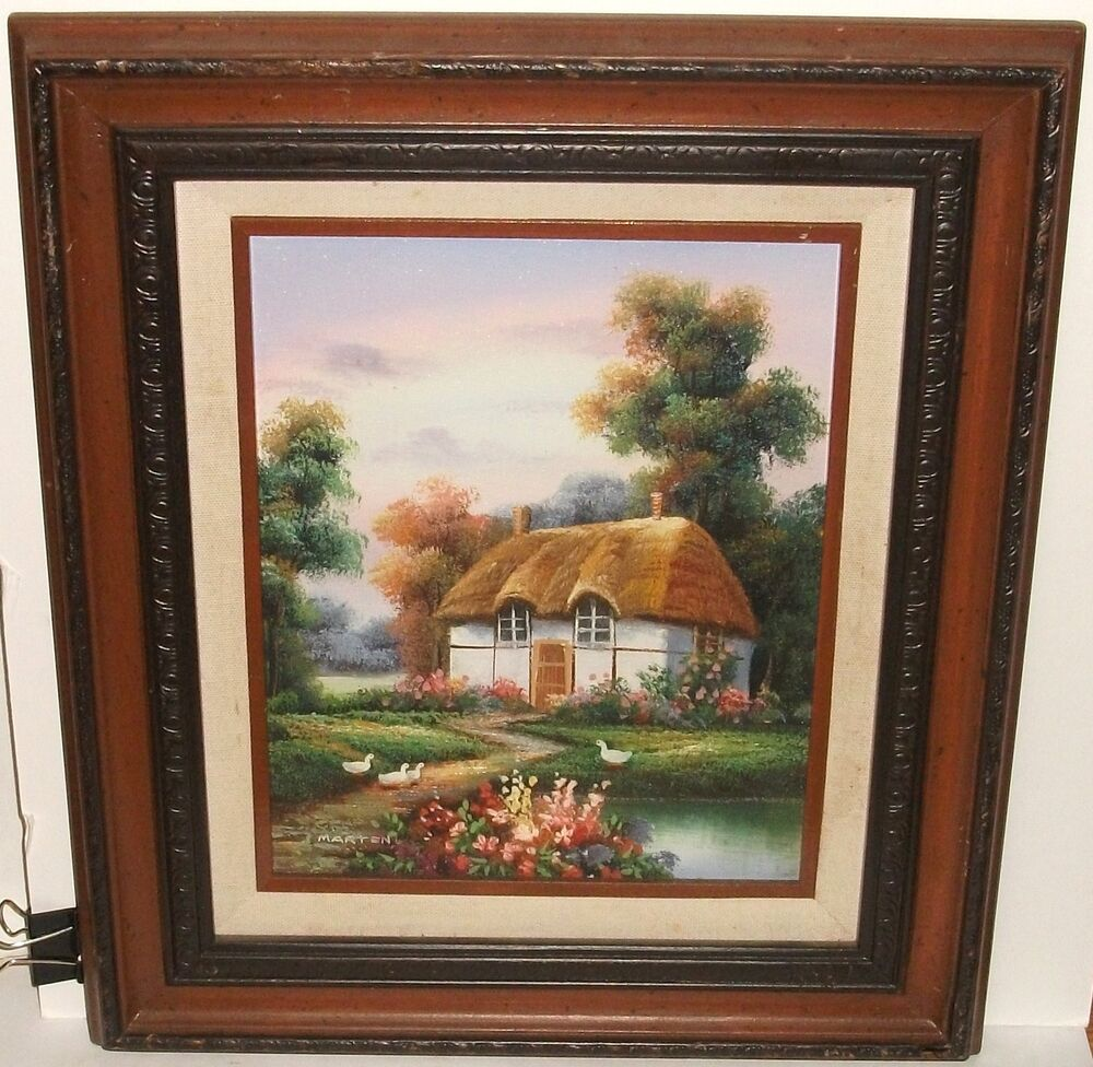 English Cottage Oil Paintings