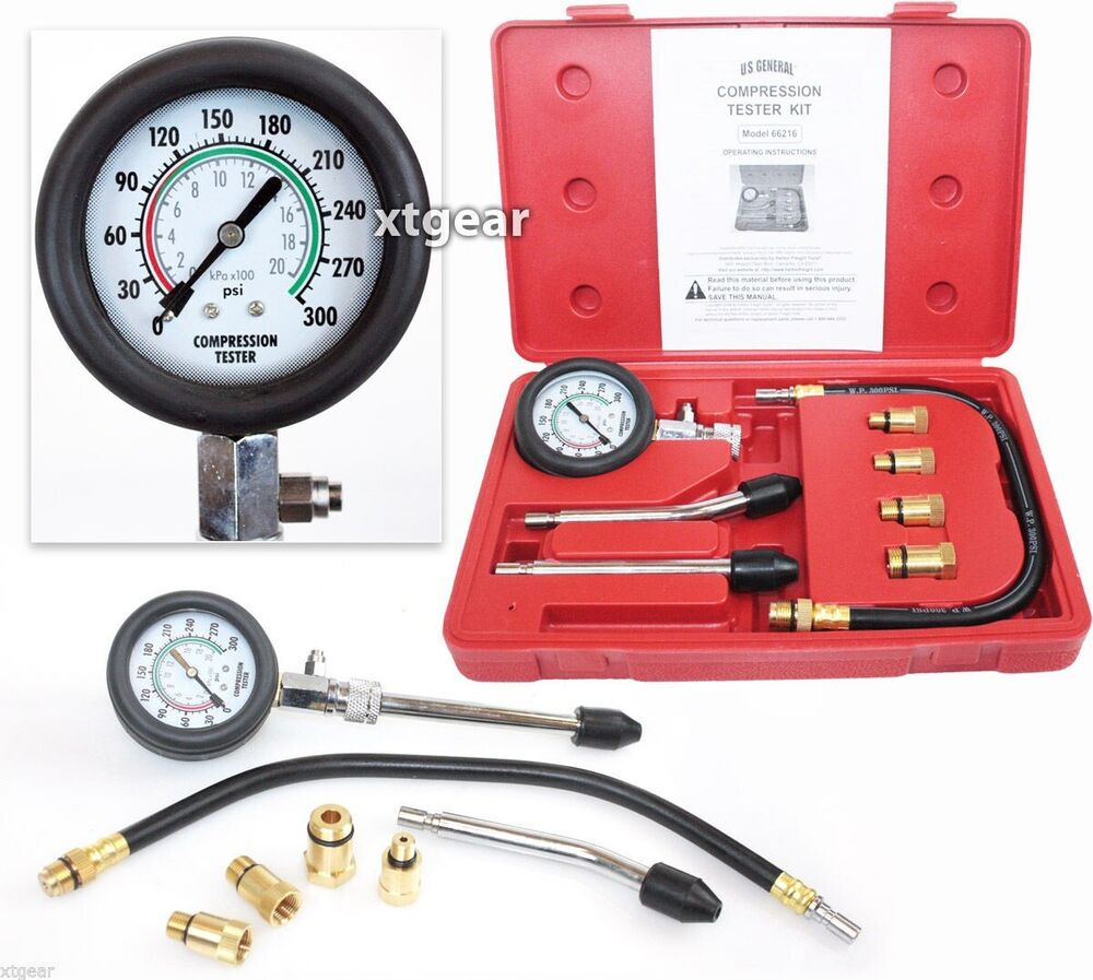 Cylinder Compression Tester Test Kit Professional ...