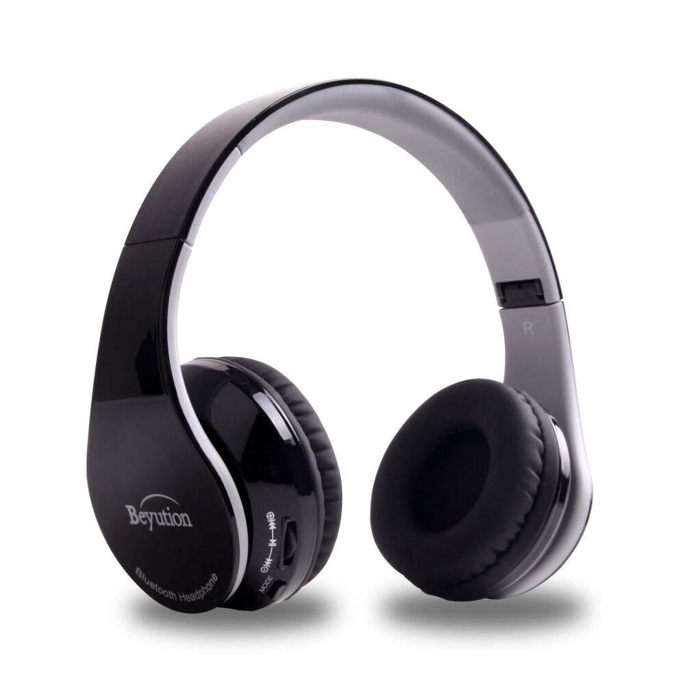 xmas gift wireless bluetooth headphone for mobile cell phone laptop pc tablet ebay. Black Bedroom Furniture Sets. Home Design Ideas