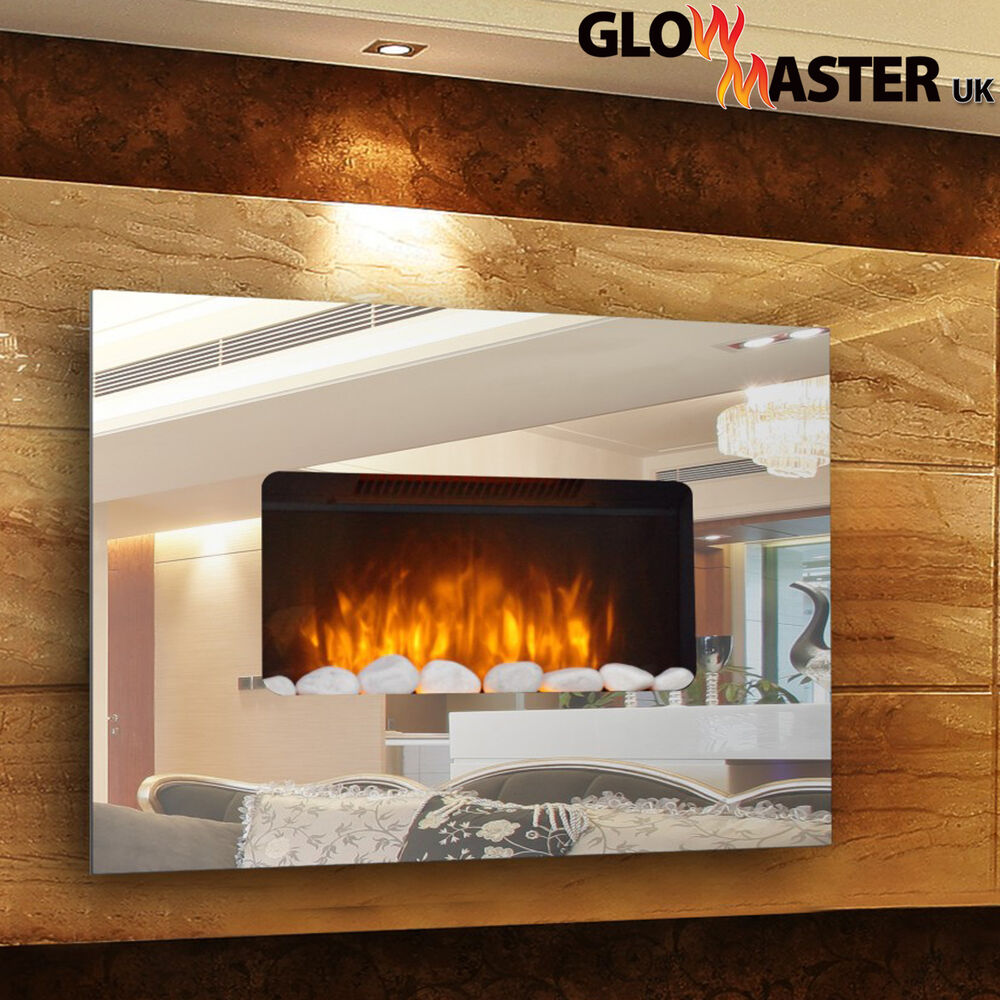 Electric Fire Fireplace Mirror Glass Designer Large Wall ...