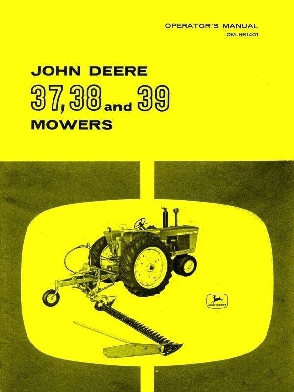 John deere sickle Mower manual