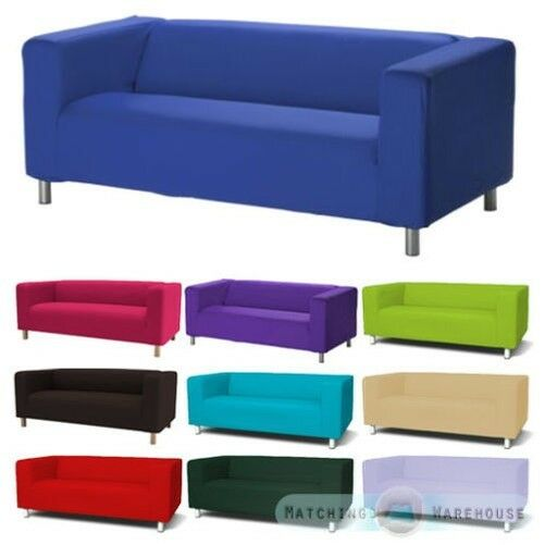 husse f r ikea klippan 2 seater sofa berwurf zweisitzer baumwolltwill ebay. Black Bedroom Furniture Sets. Home Design Ideas
