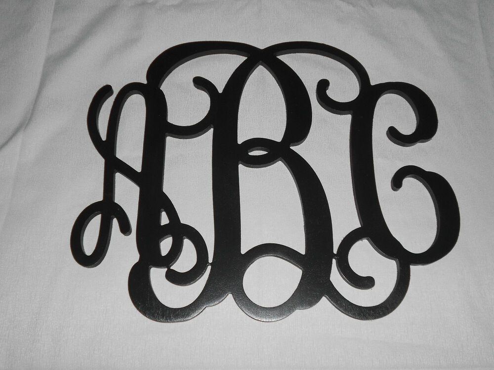 Wall Monogram Painted Letters 15 Quot X 19 Quot Personalized