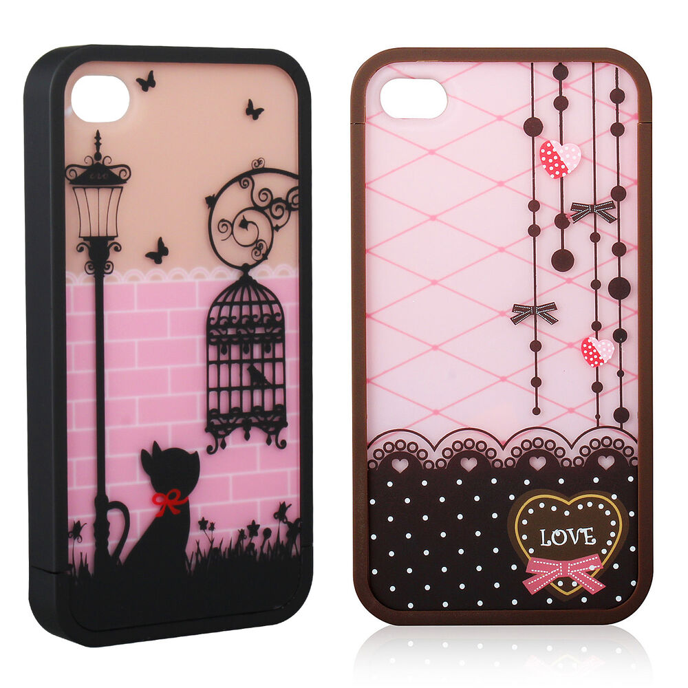 cute iphone 4s cases lovely cover skin for apple screen 1782